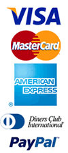 We accept Visa, MasterCard, Diners and Amex Credit & Debit Cards